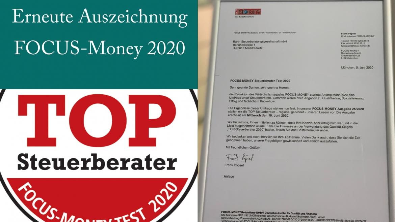 Auszeichnung FOCUS Money 2020